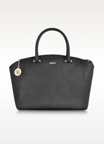 Bryant Park Saffiano Leather Large Satchel w/Detachable Strap - DKNY
