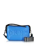 DKNY Borsa con Tracolla in Pelle e Neoprene Blu Cerulean/Nero - dkny - it.forzieri.com