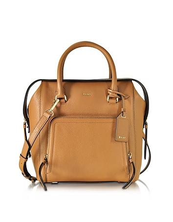 Chelsea Vintage Style Copper Leather North/South Satchel Bag
