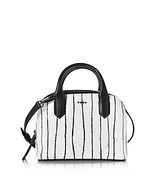 Twine Stripe Leather Mini Satchel Bag - DKNY