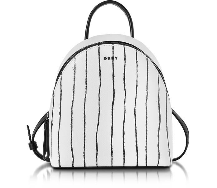 Twine Stripe Leather Mini Backpack - DKNY