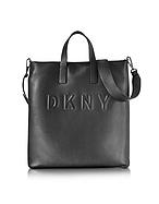 DKNY Shopper in Pelle e Neoprene Nero con Logo - dkny - it.forzieri.com