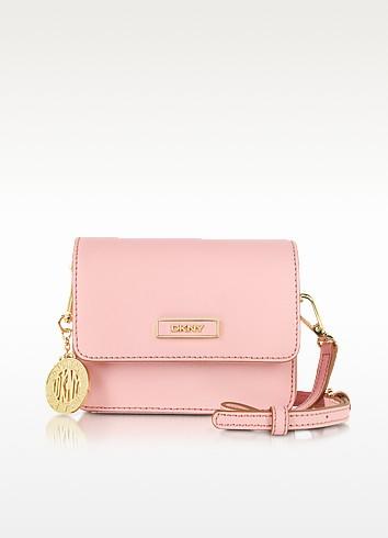 Bryant Park Mini Pink Saffiano Leather Crossbody Bag - DKNY