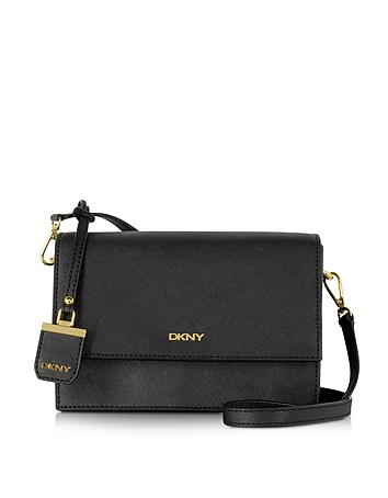 DKNY - Saffiano Leather Flap Shoulder Bag