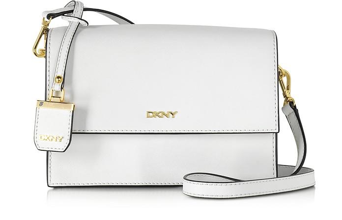 Saffiano Leather Flap Shoulder Bag - DKNY
