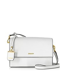 Saffiano Leather Flap Shoulder Bag - DKNY