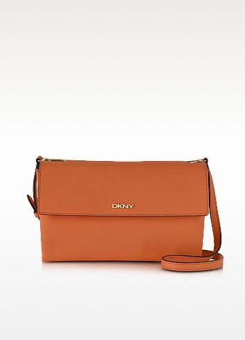 Bryant Park Saffiano Leather Double Flap Shoulder Bag - DKNY