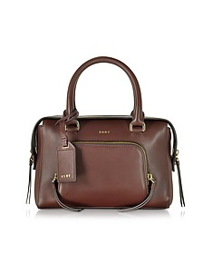 Greenwich Leather Small Satchel Bag - DKNY