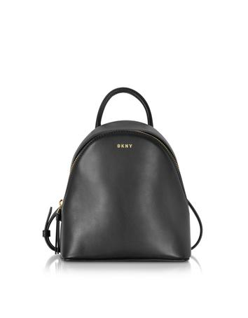 Greenwich Black Smooth Leather Small Backpack