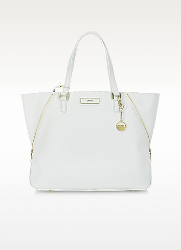 Shopper in Pelle Saffiano con Zip - DKNY