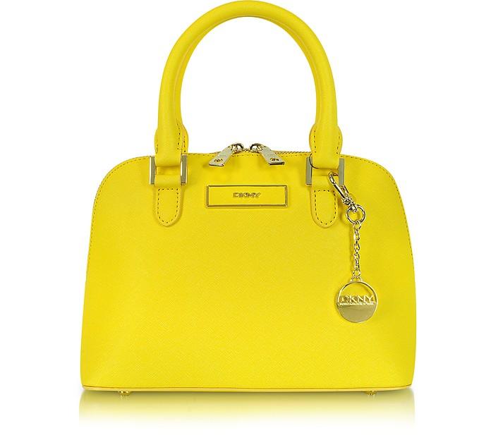 Mini Saffiano Leather Bowler Bag - DKNY