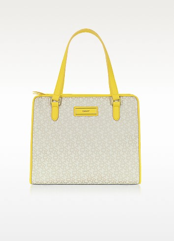 Signature Woven Fabric Tote - DKNY