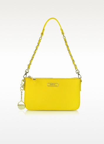 Mini Saffiano Leather Crossbody - DKNY