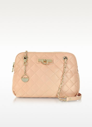 Light Pink Quilted Leather Shoulder Bag - DKNY