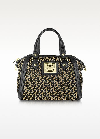 Heritage - Town & Country Canvas Signature Satchel  - DKNY