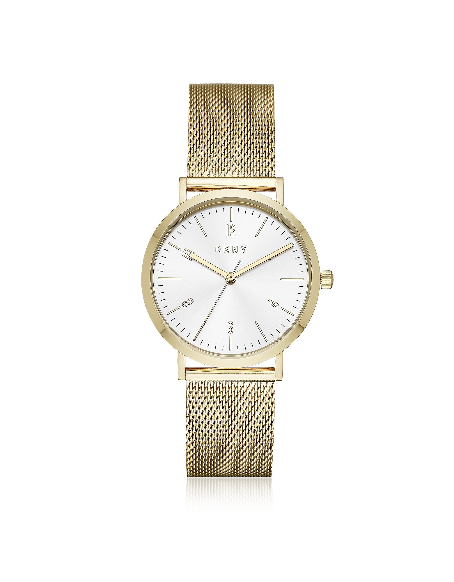 DKNY Women's Watches, Minetta Gold Tone Stainless Steel Mesh Women's Watch
