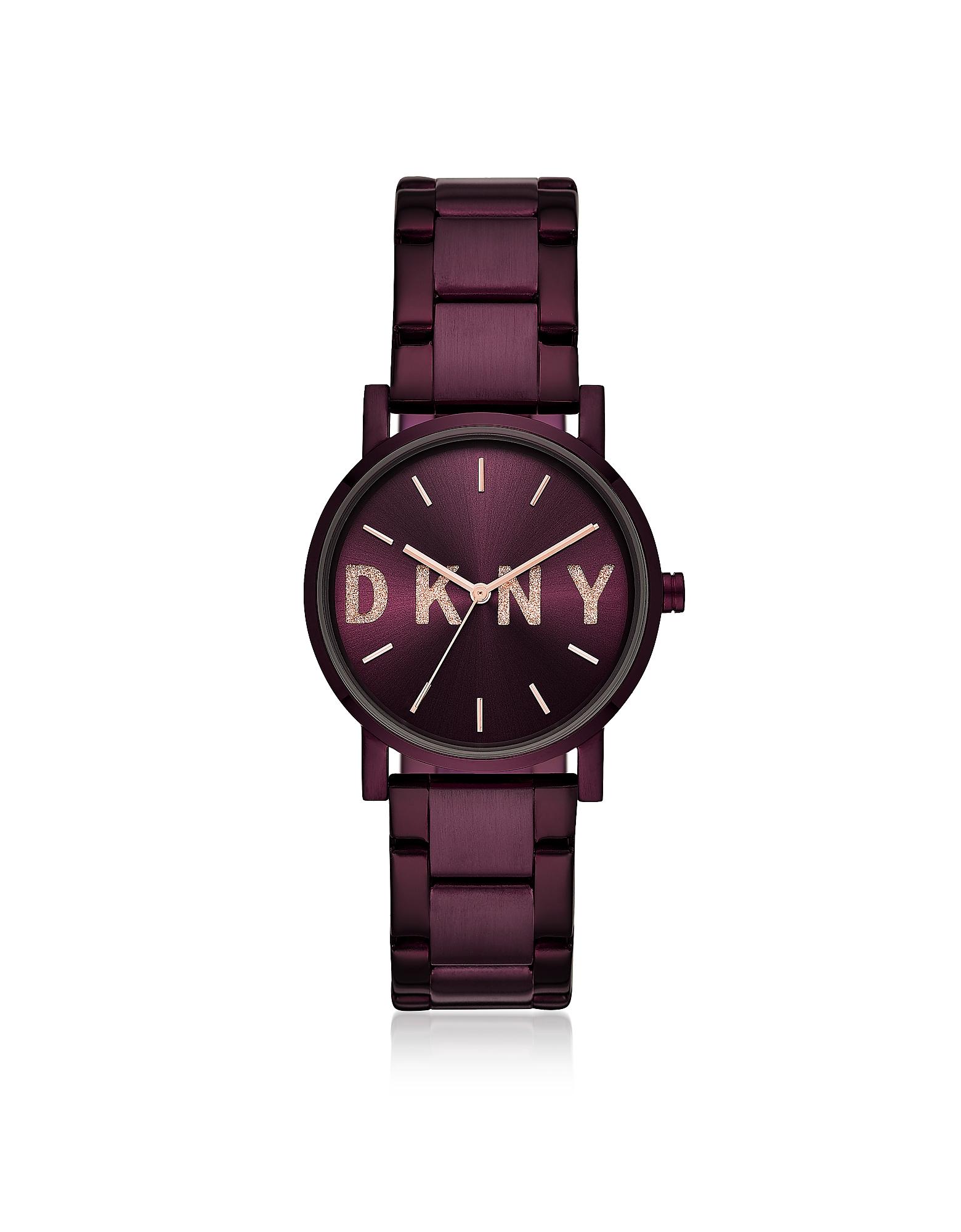 DKNY Women's Watches, Soho Purple Tone Signature Glitz Watch