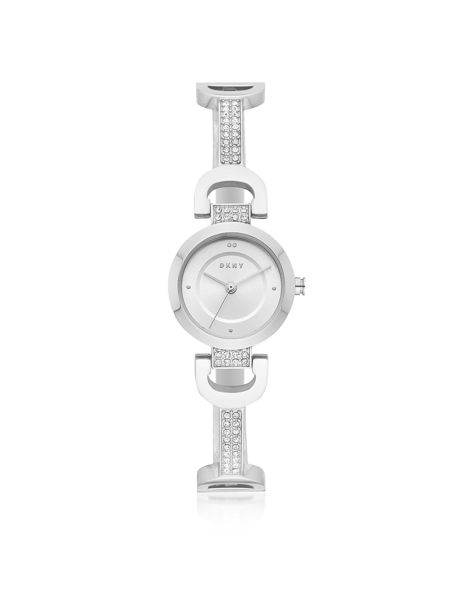 City Link Silver Tone Bangle Women's Watch