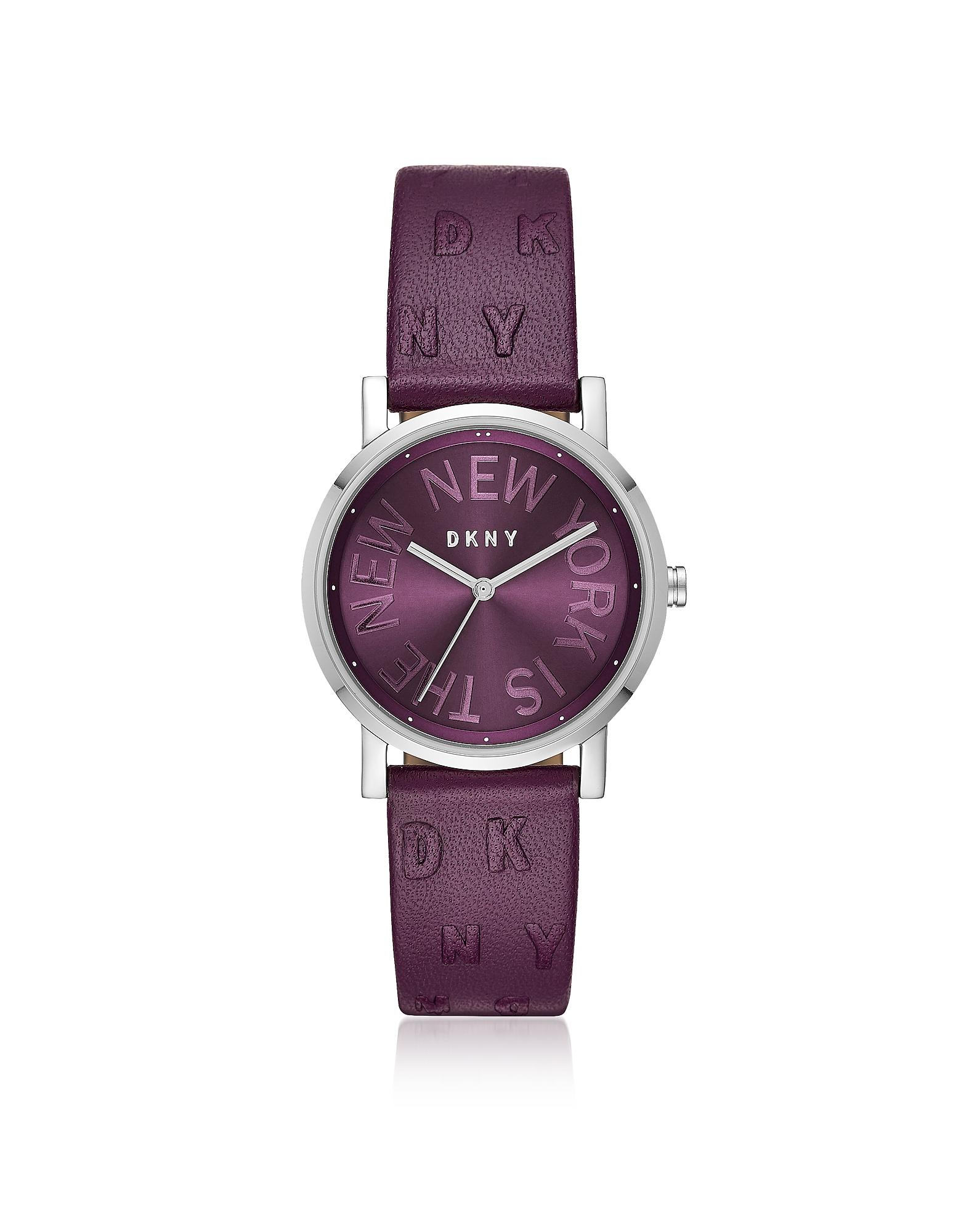 DKNY Women's Watches, Soho Purple Leather Women's Watch