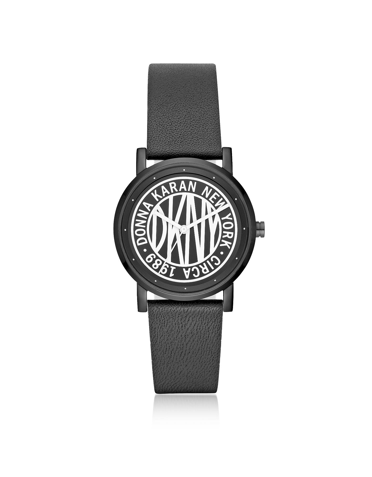 DKNY Women's Watches, Soho Black Leather Women's Watch