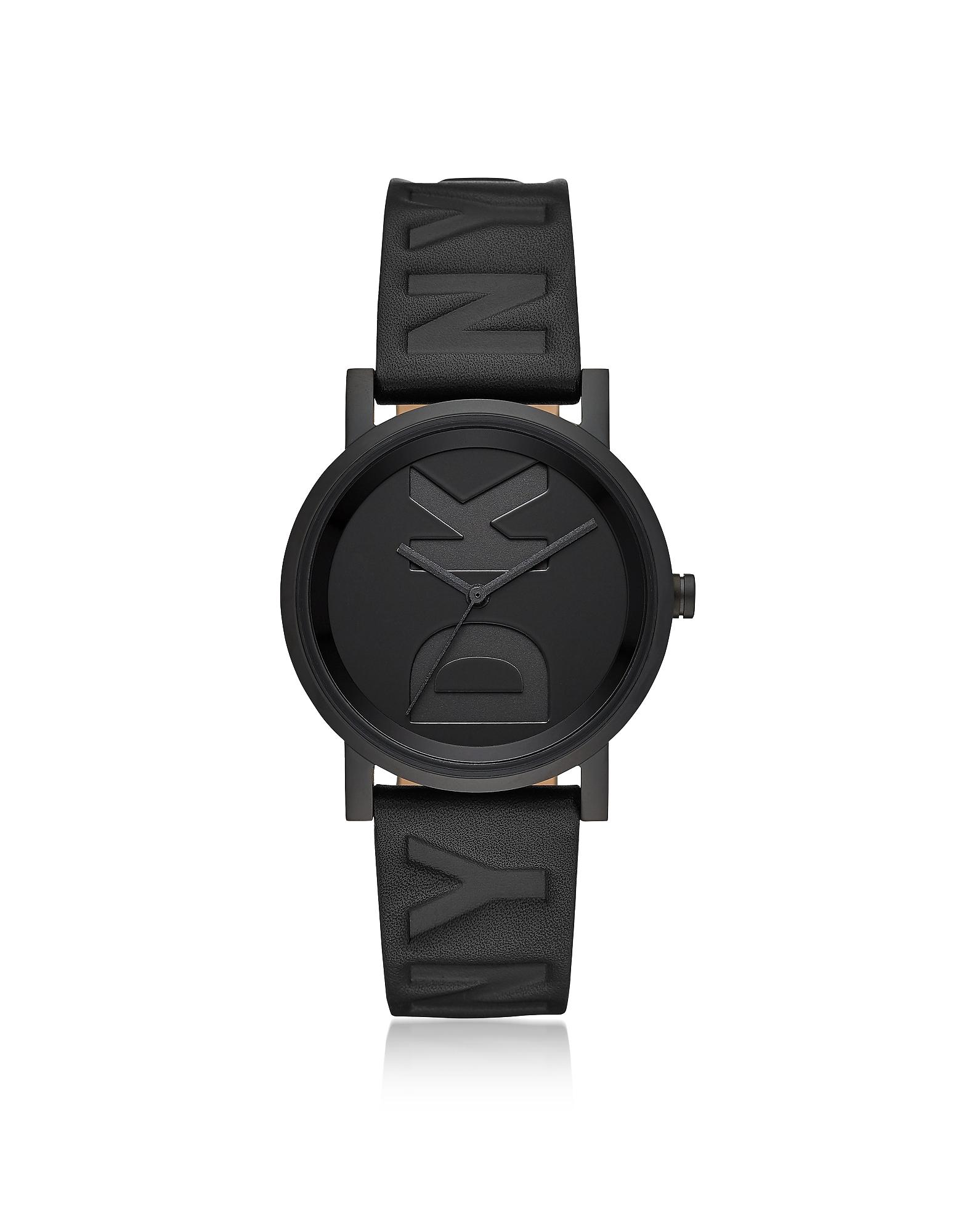 DKNY Designer Women's Watches, Soho Black Debossed Logo Watch