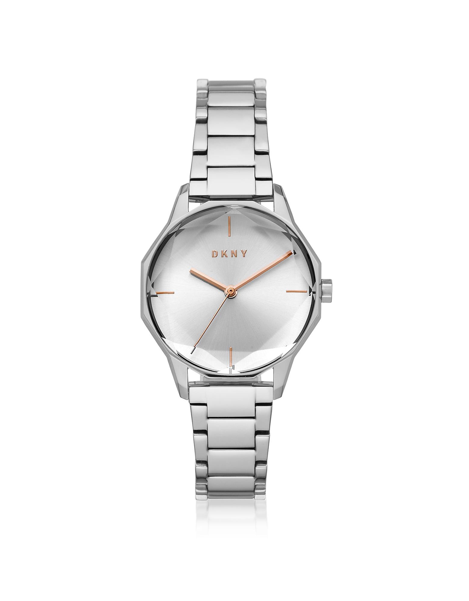 Cityspire - Круглый Часы из Нержавеющей Стали DKNY