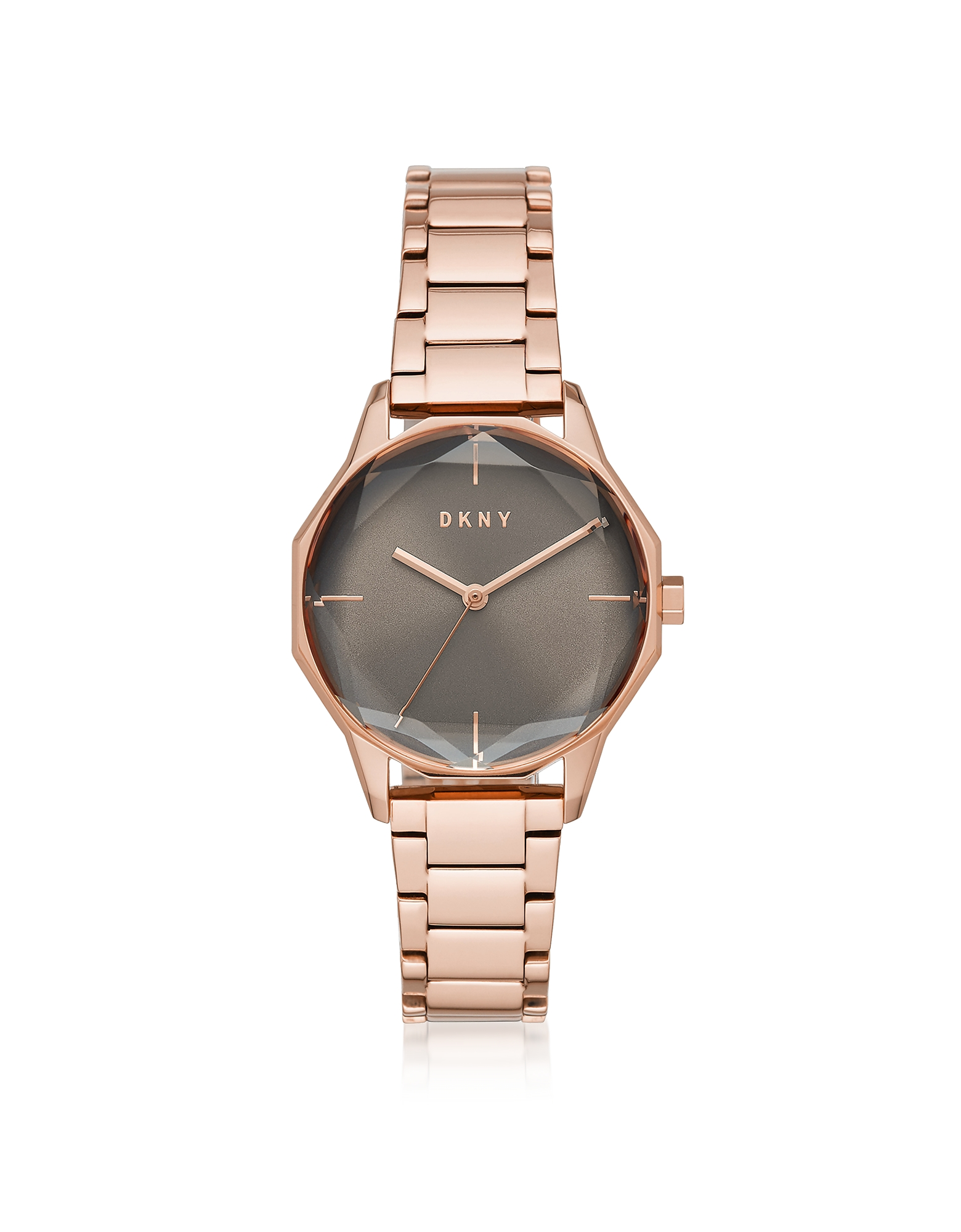 DKNY  Women's Watches Cityspire Round Rose Gold Tone Stainless Steel Watch
