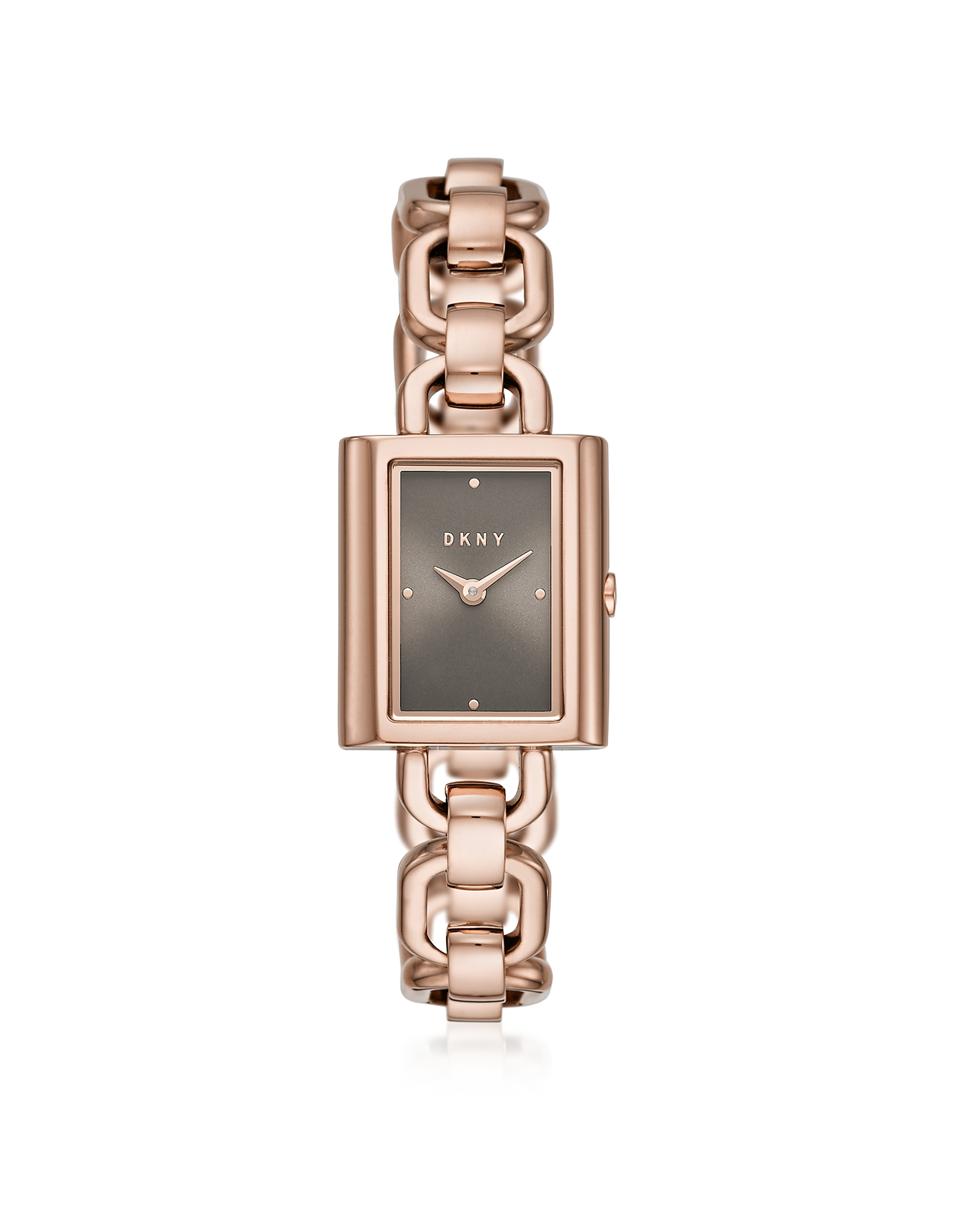 Uptown Rose Gold Tone Chain Watch