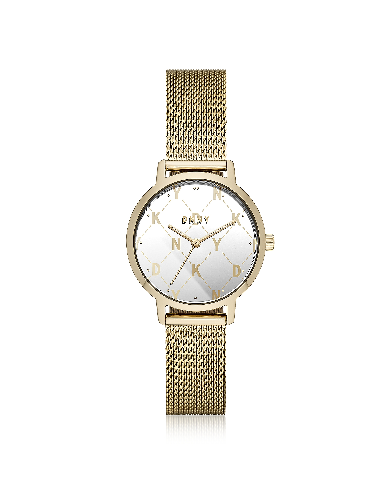 The Modernist - Золотистые Часы с Сетчатым Браслетом DKNY