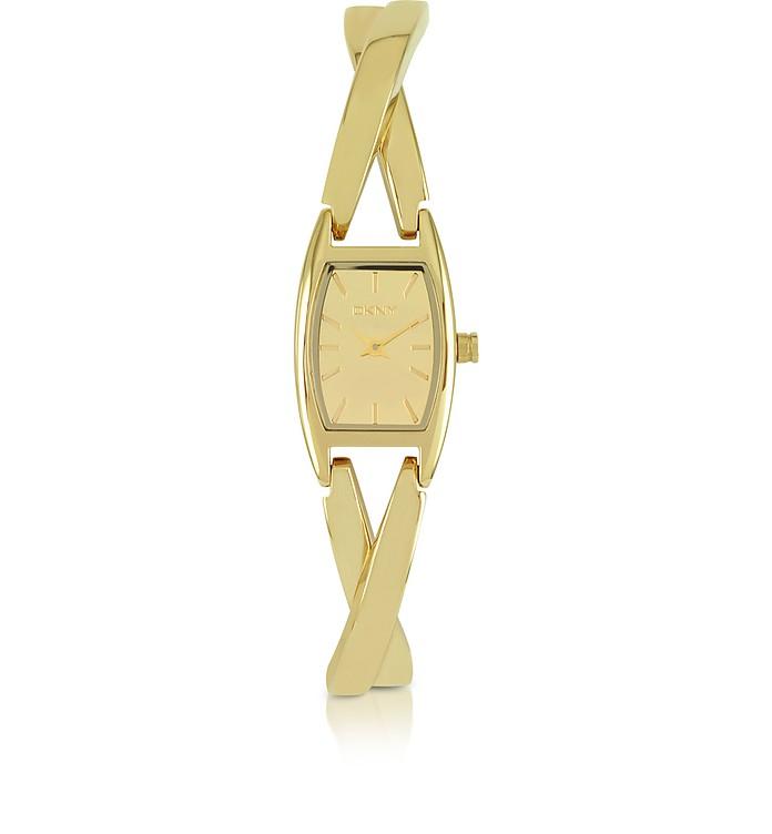 Crosswalk Gold Tone Crossover Stainless Steel Women's Watch - DKNY