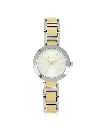 DKNY - Stanhope Two Tone Link Bracelet Women's Watch