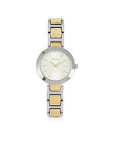 Stanhope Two Tone Link Bracelet Women's Watch - DKNY