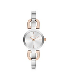 Reade Two Tone Stainless Steel Women's Watch - DKNY