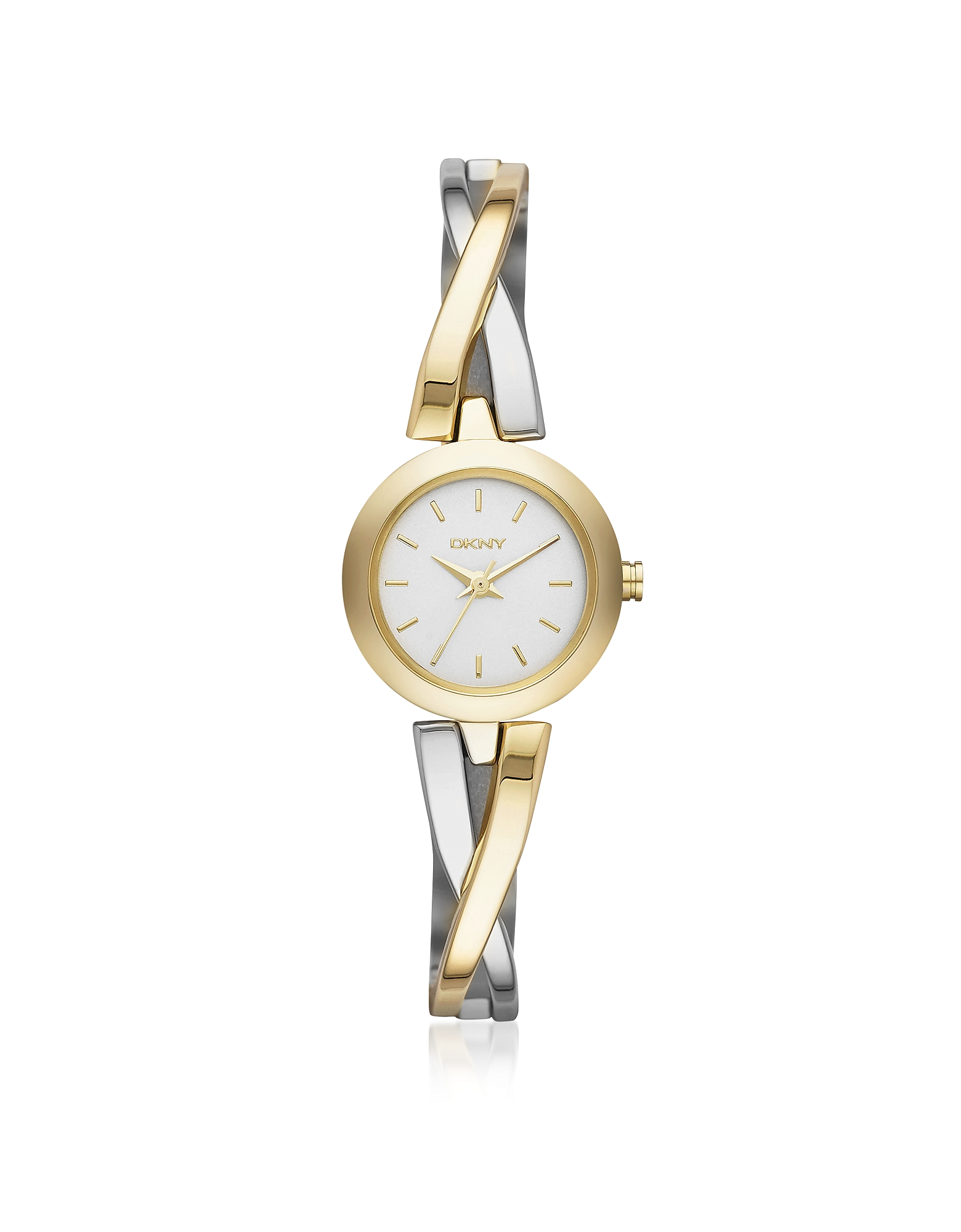DKNY Women's Watches, Crosswalk Round Dial Two Tone Stainless Steel Women's Watch