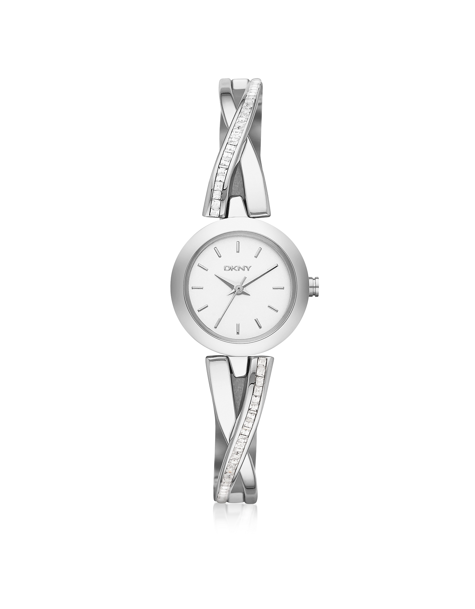 DKNY Women's Watches, Crosswalk Round Dial Silver Tone Stainless Steel Women's Watch