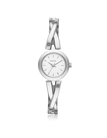 DKNY - Crosswalk Round Dial Silver Tone Stainless Steel Women's Watch