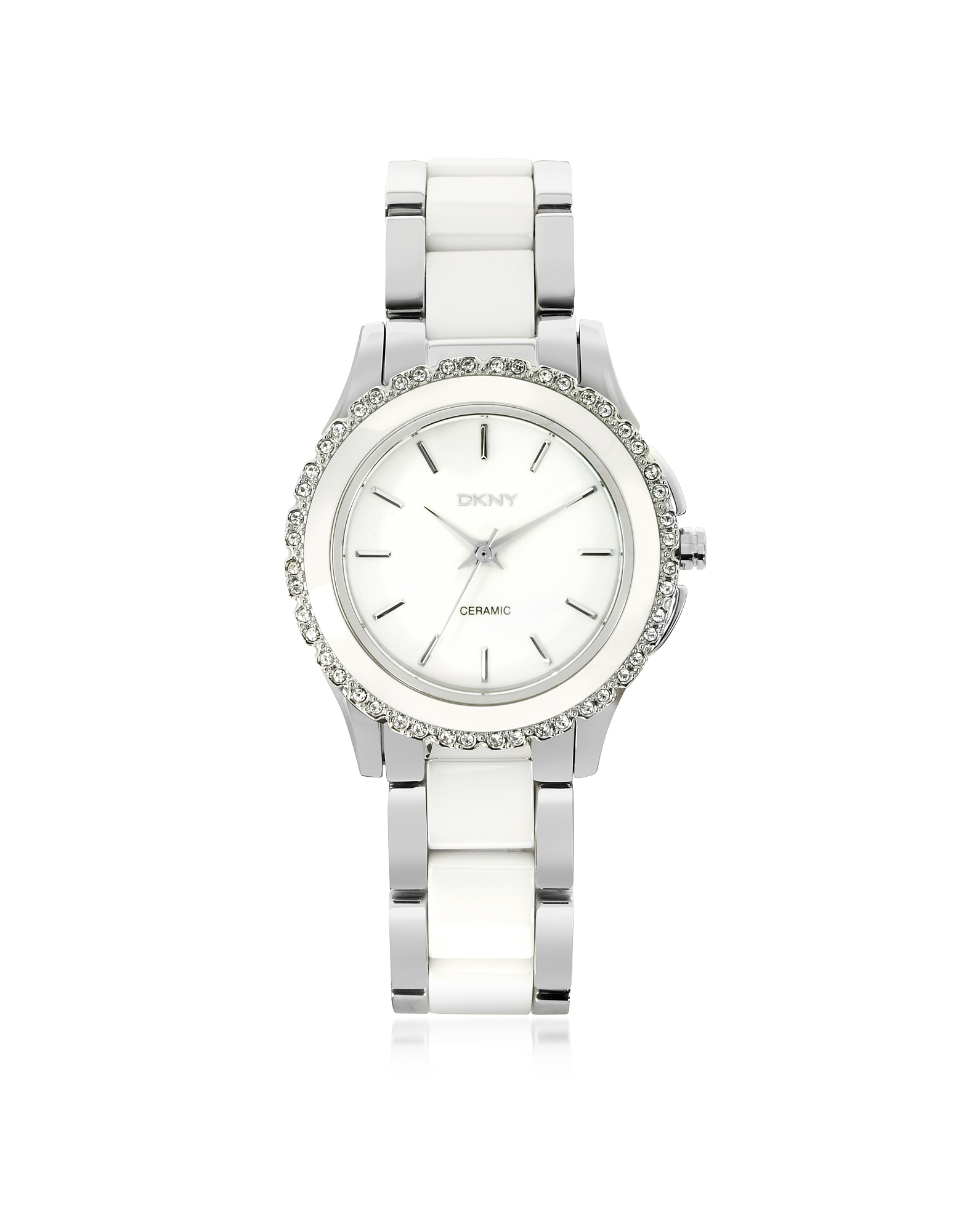 DKNY Women's Watches, Westside White Ceramic and Silver Stainless Steel Women's Watch