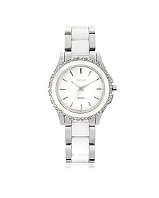 Westside White Ceramic and Silver Stainless Steel Women's Watch - DKNY