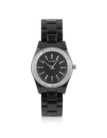 DKNY Armbanduhr aus Edelstahl in schwarz