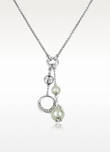 Glass Pearl Drop Necklace - DKNY