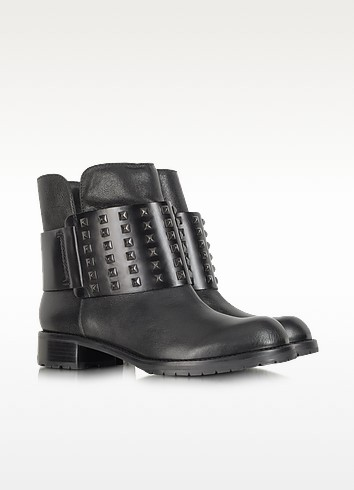 Mara Ankle Biker Boot With Studs - DKNY