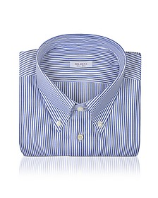 Striped Cotton Dress Shirt - Del Siena