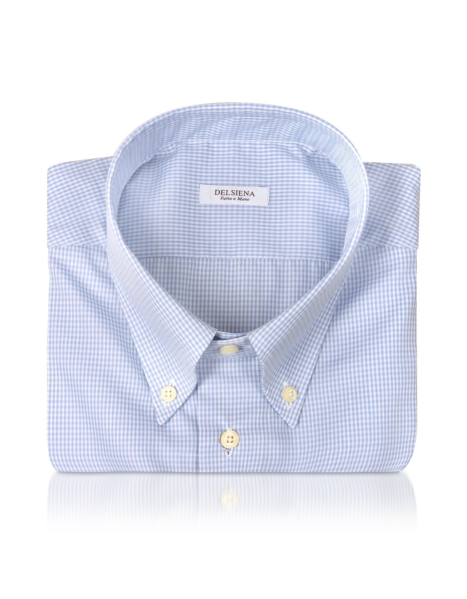 Del Siena Hemd mit blauen Karos