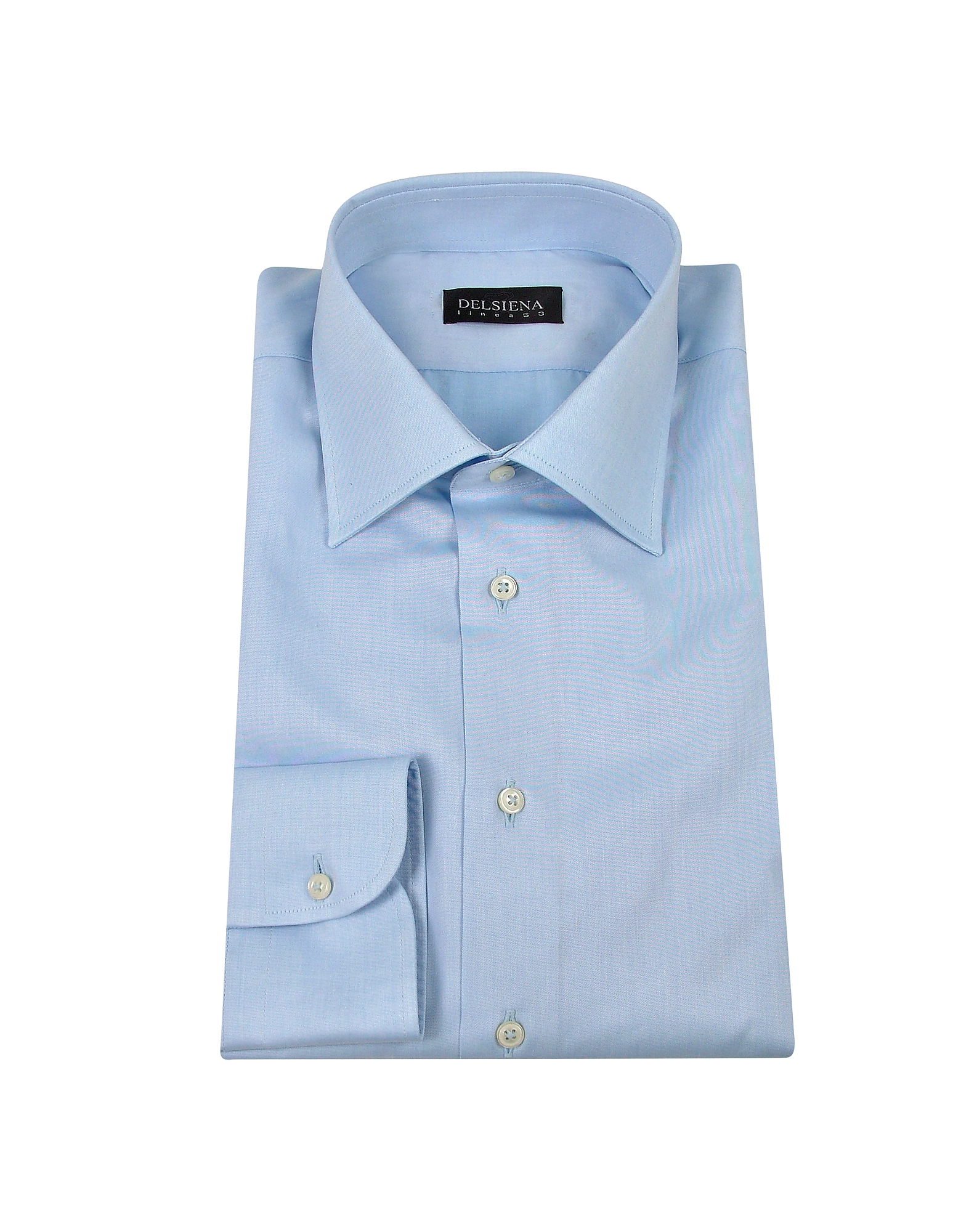 Handmade Light Blue Twill Cotton Italian Slim Dress Shirt от Forzieri.com INT