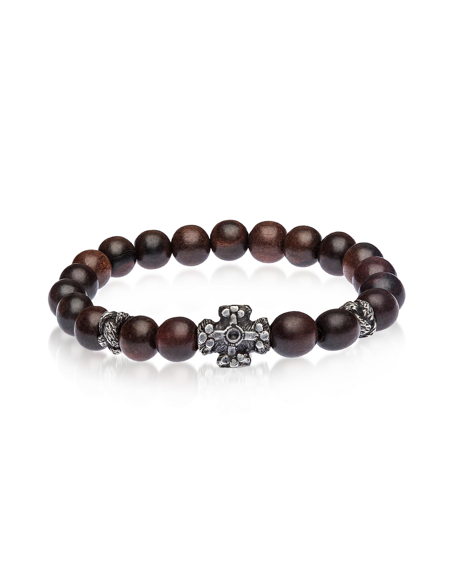 Antique Style Bracelet w/Ebony Beads