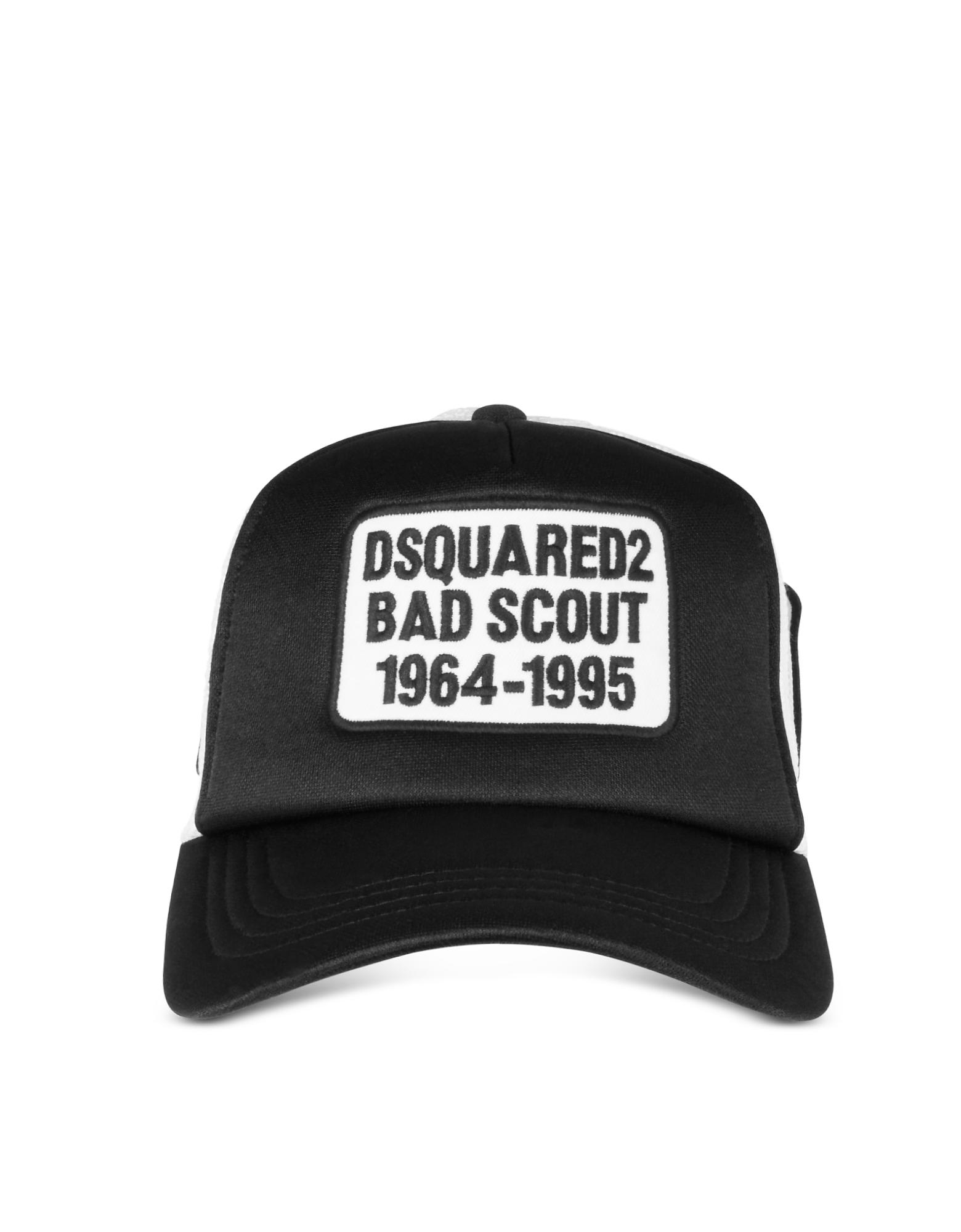 Черно-Белая Бейсболка Bad Scout