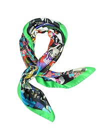 Manga Foulard in Raso di Seta Multicolor - DSquared2