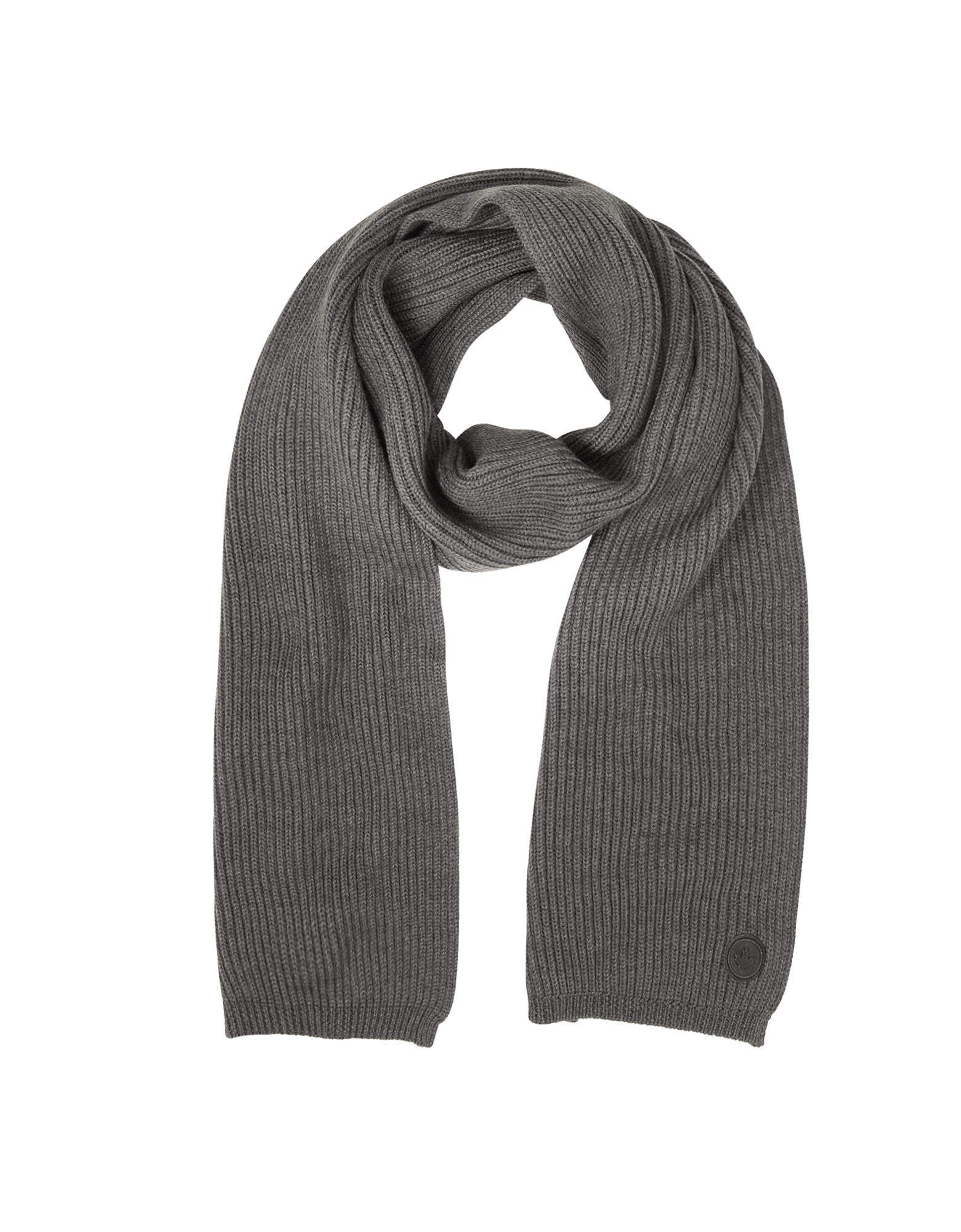 Solid Wool Knit Men's Long Scarf