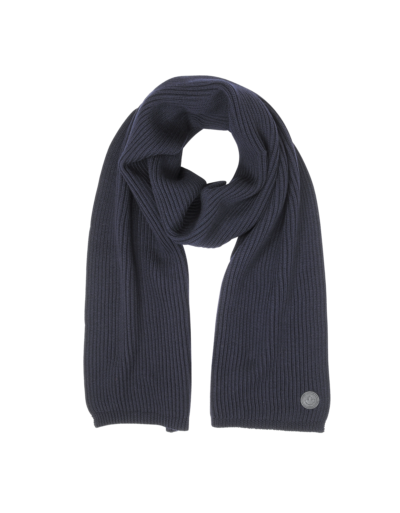DSquared2 Men's Scarves, Solid Wool Knit Men's Long Scarf