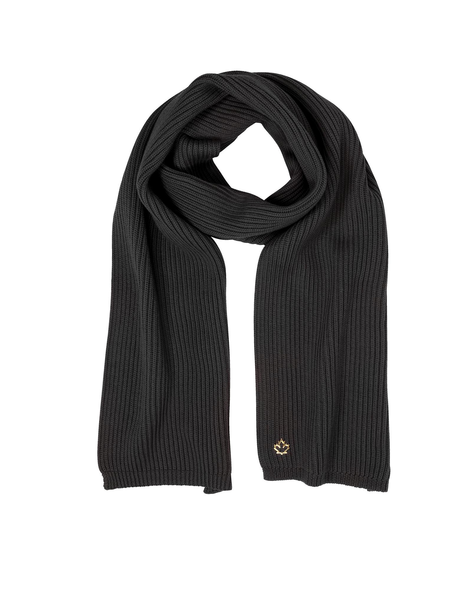 Solid Wool Knit Women's Long Scarf